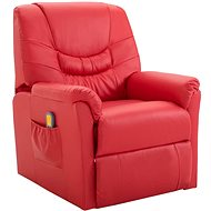 SHUMEE Reclining massage chair red faux leather 248985