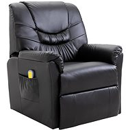 SHUMEE Massage chair black artificial leather 60045