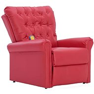 SHUMEE Reclining massage chair red faux leather 282176