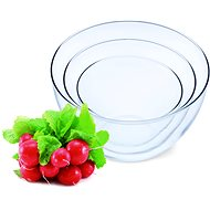 SIMAX Set of Glass Bowls 3pcs, Volume of 0.75l, 1.5l and 2.5l - Bowl Set