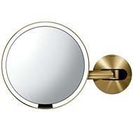 "Simplehuman Sensor with LED lighting, wall mounting, ""brass"" stainless steel - Makeup Mirror"