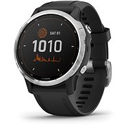 Garmin Fenix 6S Solar, Silver, Black Band - Smartwatch