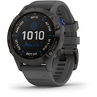 Garmin Fenix 6 Pro Solar, Black, Slate Grey Band - Smartwatch