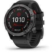 Garmin Fenix 6 Pro Solar, Slate Grey, Black Band - Smartwatch