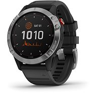 Garmin Fenix 6 Solar, Silver, Black Band - Smartwatch