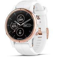 Garmin Fenix 5S Plus Sapphire Rose Gold Optic Carrera White Band - Smartwatch