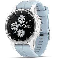 Garmin Fenix 5S Plus White Optic Seafoam Band - Smartwatch