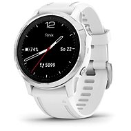 Garmin Fenix 6S Glass, Silver/White Band - Smartwatch