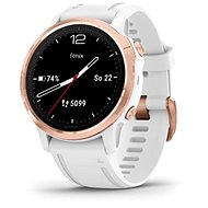 Garmin Fenix 6S Glass, Rose-Gold/White Band (MAP/Music) - Smartwatch
