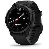 Garmin Fenix 6S Glass, Black/Black Band (MAP/Music) - Smartwatch