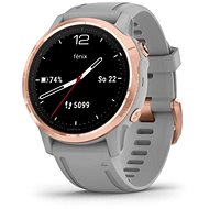 Garmin Fenix 6S Sapphire, RoseGold, Grey Band (MAP/Music) - Smartwatch