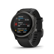 Garmin Fenix 6S Sapphire Grey/Black Band (MAP/Music) - Smartwatch