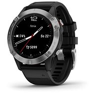 Garmin Fenix 6 Glass, Silver/Black Band - Smartwatch