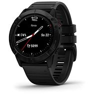 Garmin Fenix 6X Glass, Black/Black Band (MAP/Music) - Smartwatch
