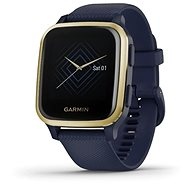 Garmin Venu Sq Music LightGold/Blue Band - Smartwatch