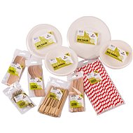 SOLO Disposable Tableware Set - 12 People - Disposable Tableware