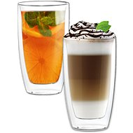 Aramoro Latté, Double-walled, 380ml, Set of 2 pcs - Glass Set
