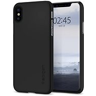 Spigen Thin Fit Black iPhone X - Mobile Case