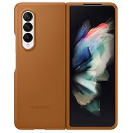 Samsung Leather Flip Case for Galaxy Z Fold3 Light Brown - Mobile Phone Case