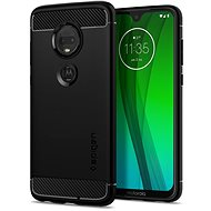 Rugged Armored Black Moto G7/G7 Plus - Mobile Case