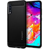 Spigen Rugged Armor Black Samsung Galaxy A70 - Mobile Case