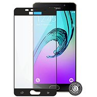 Screenshield for SAMSUNG A510 Galaxy A5 (2016) Tempered Glass protection (full COVER BLACK metallic frame) - Glass protector