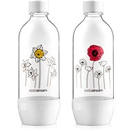 SodaStream Bottle Flowers in Winter, JET, 2 x 1l - Replacement Bottle