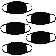 STX Cotton Mask without Print - Black (5 pcs) - Face mask
