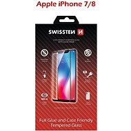 Swissten Case Friendly for iPhone 7/8, Black - Glass protector