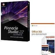 Pinnacle Studio 22 Ultimate + Microsoft Office 365 for Home - Video Editing Software