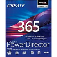 CyberLink PowerDirector 365 for 12 Months (Electronic License) - Video Software