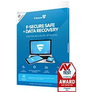 F-Secure SAFE DR for 3 devices per year + Data Recovery for 1 device for 1 year (electronic lic.) - Electronic licenses