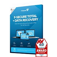 F-Secure TOTAL DR for 1 device per year + Data Recovery for 1 device per 1 year (Electronic Lic.)e - Electronic licenses