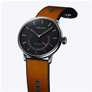 Sequent SuperCharger 2.1 Premium Onyx Black with Brown Leather Strap - Smartwatch