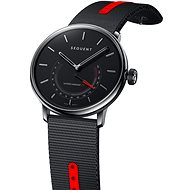 Sequent SuperCharger 2.1 Premium HR Onyx Black with Black/Red Strap - Smartwatch