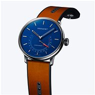 Sequent SuperCharger 2.1 Premium HR Sapphire Blue with Brown Leather Strap - Smartwatch