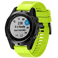 Watch band Tactical Silicone Strap for Garmin Fenix 5X/6X QuickFit 26mm Lime - Řemínek