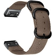 Watch band Tactical Nylon Strap for Garmin Fenix 5/6 QuickFit 22mm Khaki - Řemínek