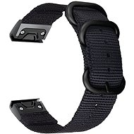 Watch band Tactical Nylon Strap for Garmin Fenix 5/6 QuickFit 22mm Black - Řemínek