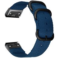 Watch band Tactical Nylon Strap for Garmin Fenix 5/6 QuickFit 22mm Blue - Řemínek
