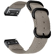 Watch band Tactical Nylon Strap for Garmin Fenix 5X/6X QuickFit 26mm Grey - Řemínek