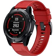 Watch band Tactical Silicone Strap for Garmin Fenix 5X/6X QuickFit 26mm Red - Řemínek