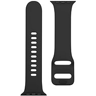 Tactical Silicone Band with Buckle for Apple Watch 42/44mm, Grain Black