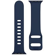 Tactical Silicone Band with Buckle for Apple Watch 38/40mm, Night Blue