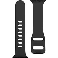 Tactical Silicone Band with Buckle for Apple Watch 38/40mm, Grain Black