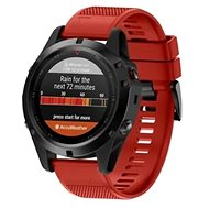 Tactical Silicone Strap for Garmin Fenix 5 Red (EU Blister) - Watch band