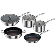 Tefal Set of Pots and Pans 8pcs RESERVE Collection E475S544 Tri-Ply - Cookware Set