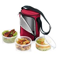 Tescoma FRESHBOX Food Carrier, with 3x 1.5-litre containers, Bordeaux 892211.00 - Snack box