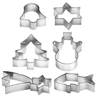 TESCOMA DELÍCIA Christmas Cutters on a Ring, 6 pcs - Biscuit Cutters