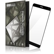 Tempered Glass Protector Framed for Huawei P10 Black - Glass protector